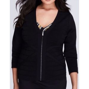 Fitted zip cardigan